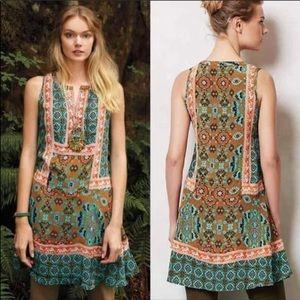 Tolani Anthropologie Reva Silk Tunic Dress